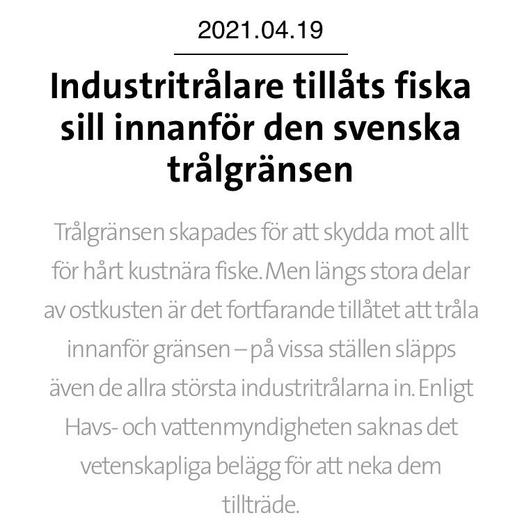 Hela Hälsingland: Värna det kustnära fisket i Östersjön