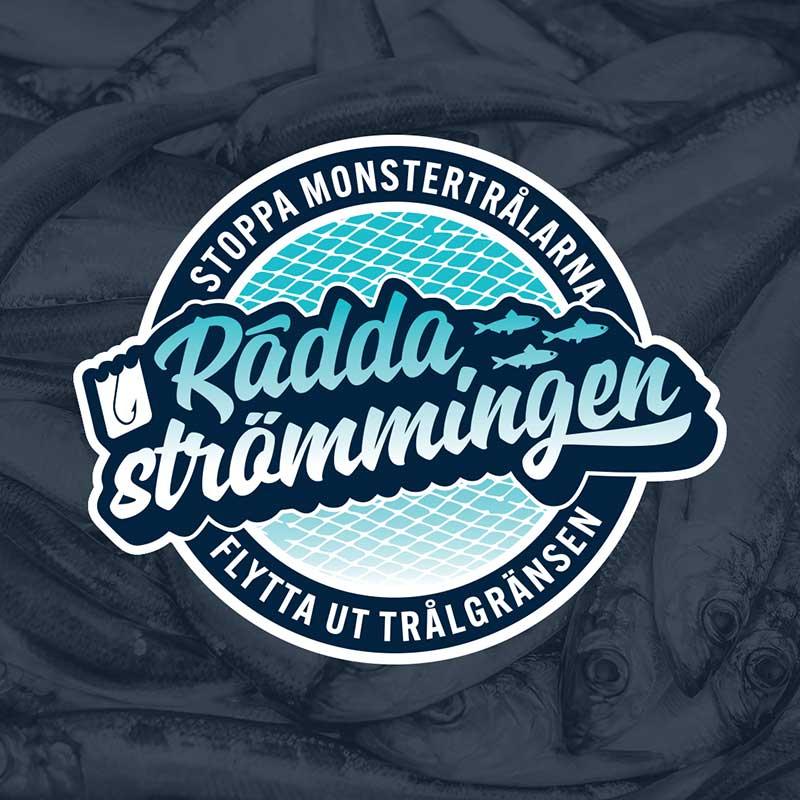 Logo Rädda strömmingen -Stoppa monstertrålarna