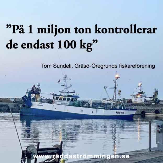 På en miljon ton kontrollerar de 100 kg