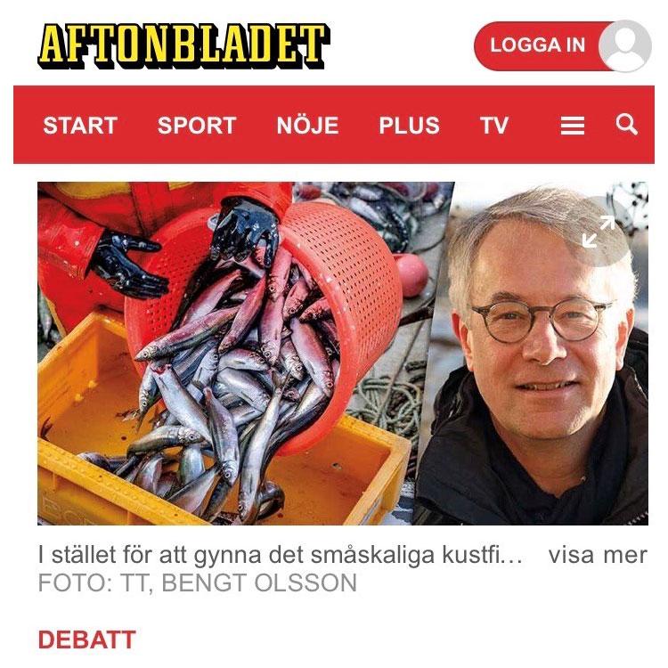 Aftonbladet debatt: Rädda strömmingen innan det är försent